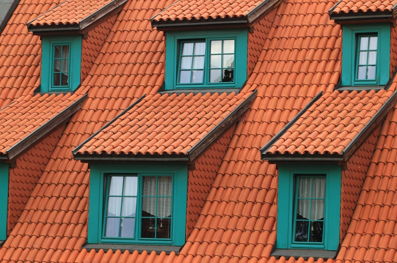 brown house roof