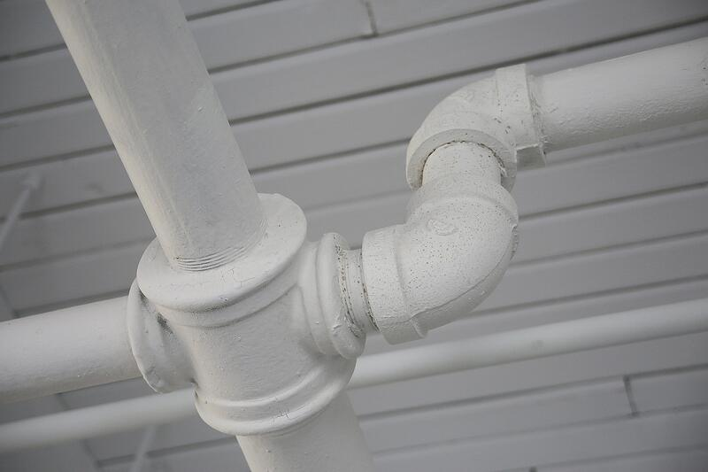 white-plumbing-pipes